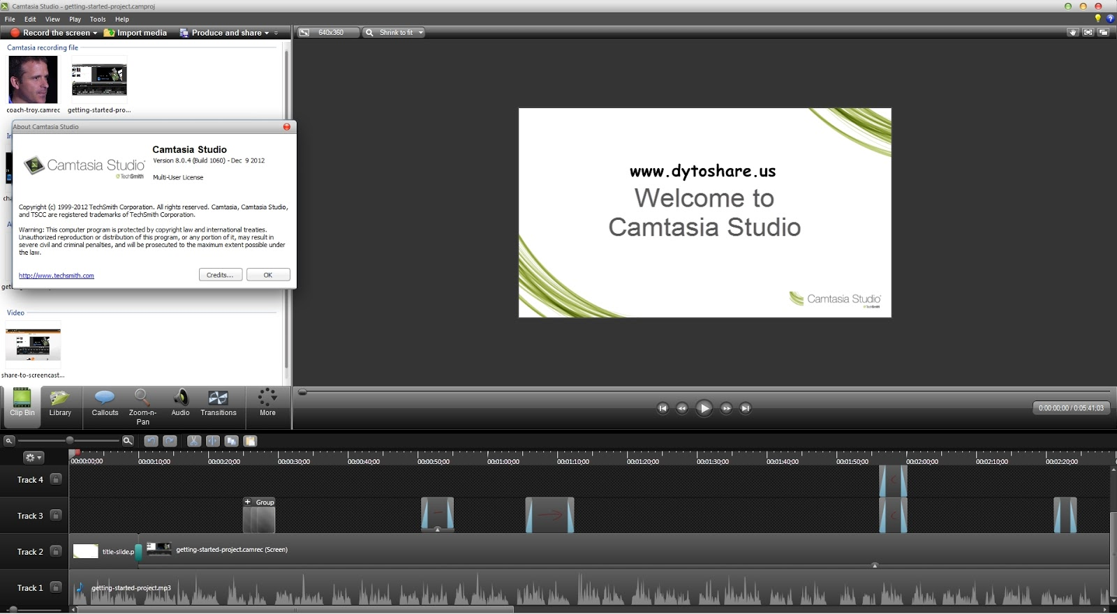 Order Techsmith Camtasia Studio